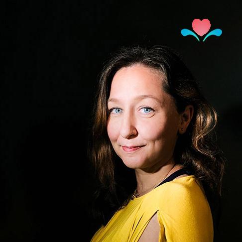 Profilfoto Daniela Junge Design mit Spreeherz-Logo